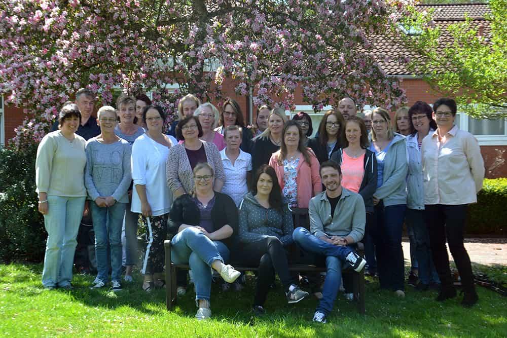Unsere Pflegekräfte Gruppenfoto